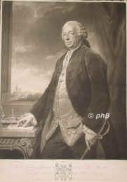 Germain, Lord George, 1716 - 1785, , , General and secretary of state., Portrait, MEZZOTINTO:, G. Romney pinx. –  John Jacobé sc.